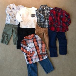 Boys outfits. Variety brands. 18months.